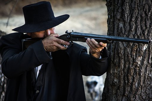 Man, Rifle, Cowboy, Hat, Gun, Western, West, Old West