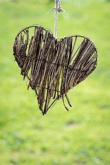 Heart, Wood, Graze, Deco, Decoration, Garden, Symbol