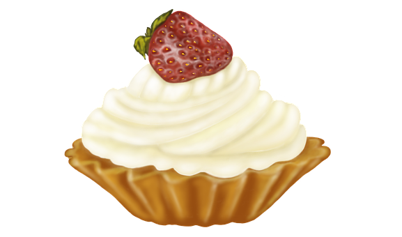 Tart, Sweets, Strawberry, Cream, Whipped Cream