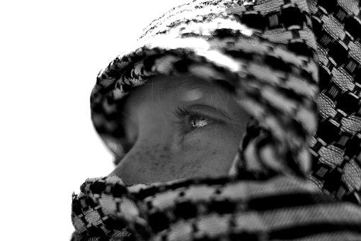 Tuareg, Palestine, Eyes, Child, Kid, Religion, Islam
