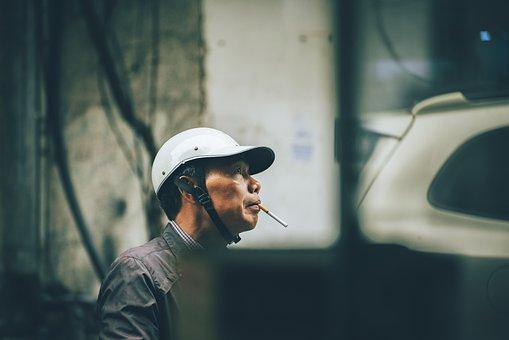Man, Cigarette, Vietnamese, Smoking, Leisure, Chill