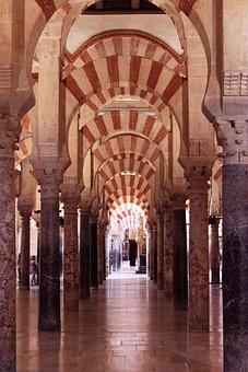Mosque Of Cordoba, Building, Architecture, Arches