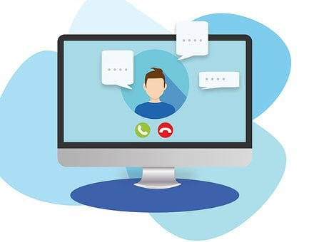 Computer, Video Conference, E Learning, Webinar, Online