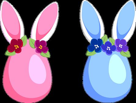 Egg, Easter, Spring, Rabbit, Ears, Flowers