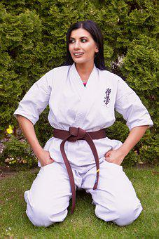 Woman, Karate, Fighter, Martial Arts, Sport, Training