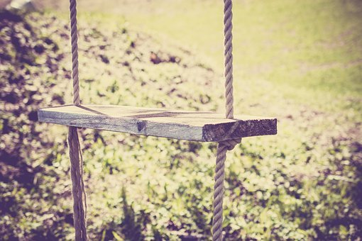 Swing, Rope, Childhood, Wooden Swing, Hanging, Outdoors