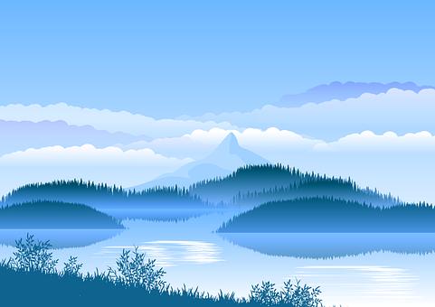Lake, Mountain, Forest, Background, Landscape, Sky