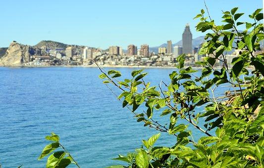 Benidorm, Costa, Landscape, Spain, Sea, Alicante, Beach