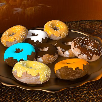 Donuts, Pastries, Kringel, Cake, Candy, Eat, Donut