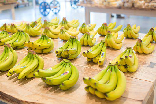Bananas, Fruit, Food, Healthy, Fresh, Yellow, Breakfast
