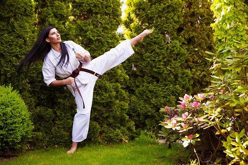 Karate, Woman, Sports, Girl, Martial Art, Kick, Fighter