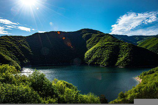 Sun, Summer, Water, Dam, Sky, Scenic, Nature, Idyllic