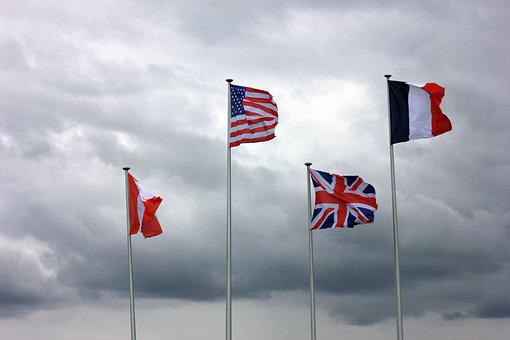 Flags, National Flags, Sky, United States, America