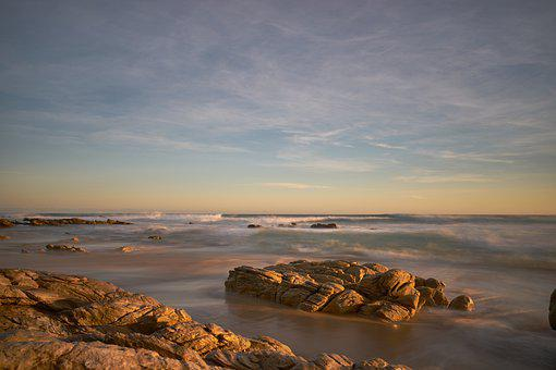 Coast, Sea, Sunset, Rocks, Coastline, Seashore, Ocean