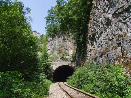 Tunnel, Rail, Mountain, Rocks, Transylvania, Tourism
