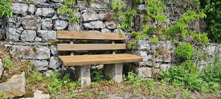 Vineyard, Bank, Rest, Idyll, Vineyard Way, Bench, Wall