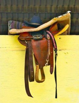 Saddle, Hat, Western, Blanket, Rodeo, Cowboy Hat