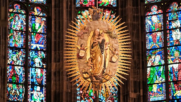 Dom, Cathedrale, Aachen, Altar, Indoor, Maria, Church