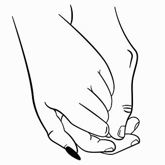 Hands, Couple, Love, Sketch, Figure, Vector