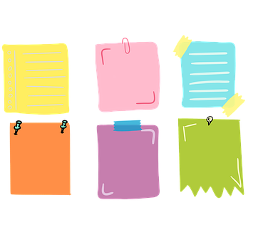 Post-its, Note Paper, Notes, Sticker Memo, Paper Clip