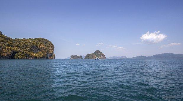 Sea, Mountains, Islands, Asia, Thailand, Krabi, Tourism