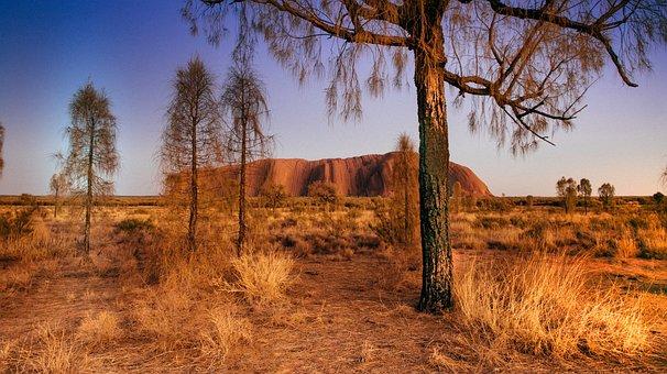 Uluru, Sandstone, Desert, Australia, Landscape, Tourism
