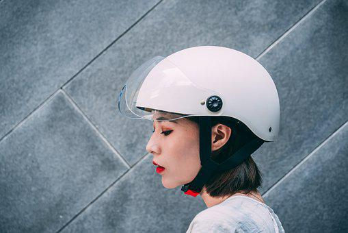 Bicycle Helmet, Woman, Portrait, 3c Helmet, Helmet