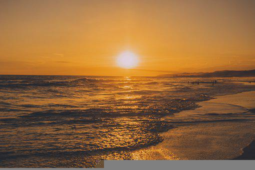 Background, Beach, Beautiful, Blue, Coast, Color, Dusk