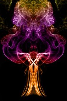 Smoke, Abstract, Light, Pattern, Colorful, Creative