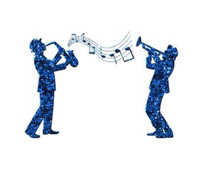 Blue Glitter, Trumpeters, Glitter, Trumpets, Music