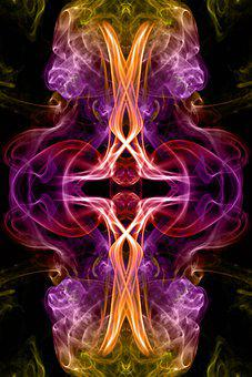 Smoke, Abstract, Light, Pattern, Cross, Religion