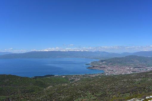 Ohrid, Lake, Macedonia, Tourism, Landscape, Sky, Clouds