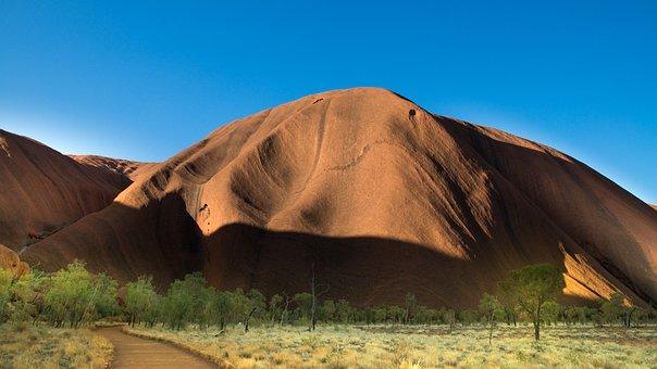 Uluru, Mountain, Sandstone, Desert, Landscape, Nature