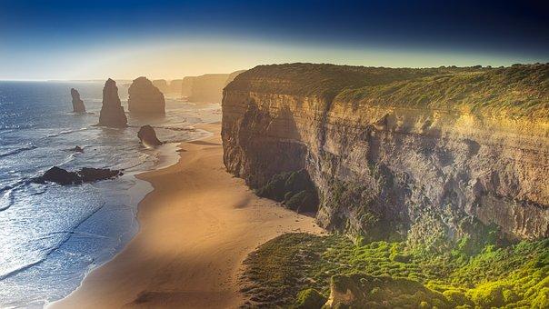 Cliffs, Coast, Beach, Sea, Ocean, Bay, Rock Formation
