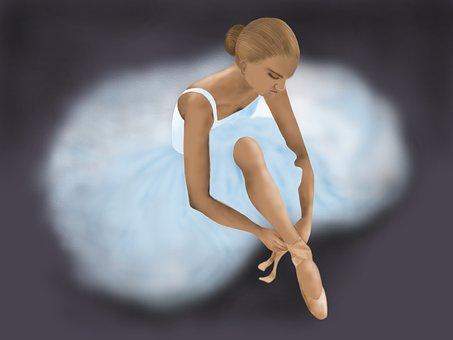 Ballerina, Sitting, Ballet, Girl, Studio, Dancer
