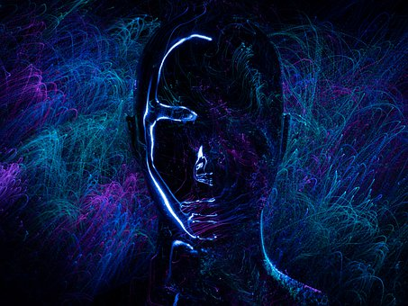 Abstract, Face, Light Painting, Art, Black, Dancing