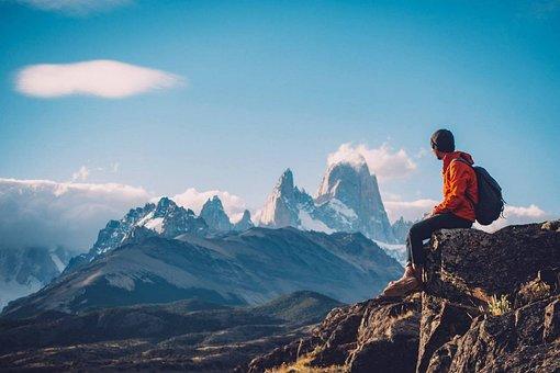 Trekking, Peak, Mountains, Man, Hiking, Recreation