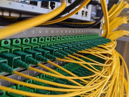 Patch Panel, Internet, Cable, Connection, Glass Fiber