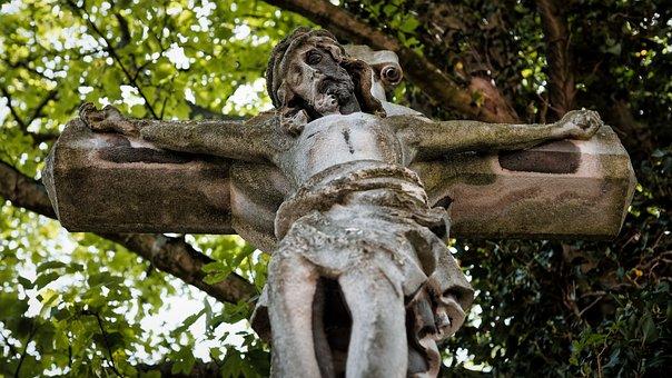 Jesus, Cross, Statue, Stone Statue, Christ, Crucifix