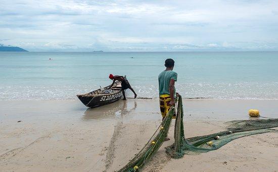 Fishing, Fishing Boat, Fishermen, Beach, Shore