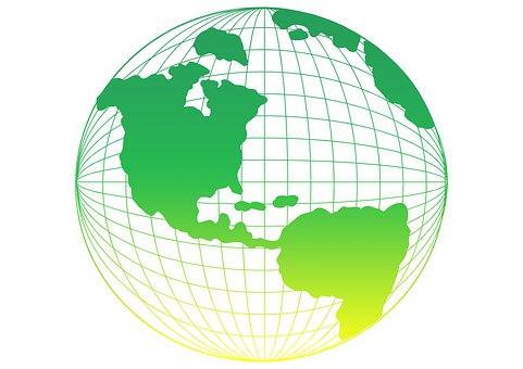 Earth, Planet, Grid, Globe, World, International, Map