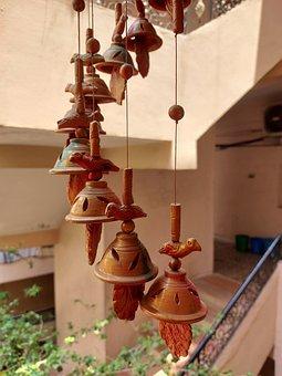 Bells, Decoration, Hanging Bells, Handmade, Natural