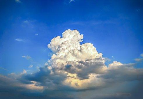 Clouds, Sky, Cloud, Cumulus, Cumulonimbus, Fluffy
