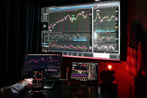 Computer, Stock, Market, Chart, Dow, S P 500, Nasdaq