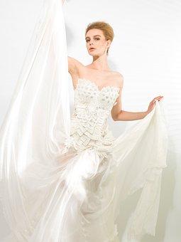 Model, Dress, Elegant, Portrait, White Dress, Fashion