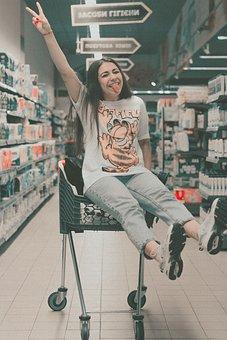 Shop, Girl, The Seller, Woman, Shopping, Model