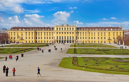 Schönbrunn, Palace, Park, Vienna, People, Tourists