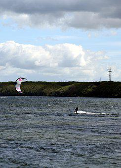 Kitesurfer, Wind, Waves, Sea, Surf, Sport, Water Sports