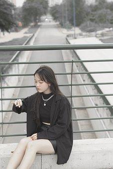Girl, Fashion, Cigarette, Smoking, Woman, Young