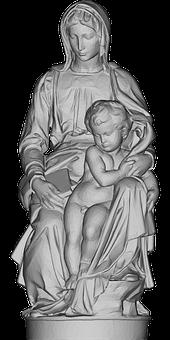 Virgin Mary, Baby Jesus, Statue, Madonna, Santa Maria